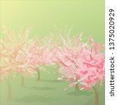 spring bloom. cherry blossoms...   Shutterstock .eps vector #1375020929