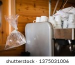 plastic bag filled with water... | Shutterstock . vector #1375031006