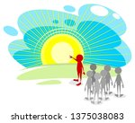 vector illustration of the path ...   Shutterstock .eps vector #1375038083
