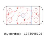 hockey sport field plan with... | Shutterstock . vector #1375045103