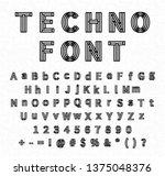 futuristic complicated techno... | Shutterstock . vector #1375048376