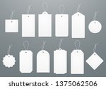 blank white paper price tags or ... | Shutterstock .eps vector #1375062506