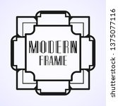 modern art deco frame. vintage...   Shutterstock .eps vector #1375077116