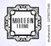 modern art deco frame. vintage...   Shutterstock .eps vector #1375077140