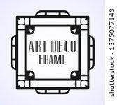 modern art deco frame. vintage...   Shutterstock .eps vector #1375077143