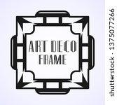 modern art deco vintage border...   Shutterstock .eps vector #1375077266