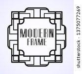 modern art deco vintage border...   Shutterstock .eps vector #1375077269