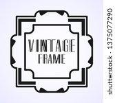 modern art deco vintage border...   Shutterstock .eps vector #1375077290