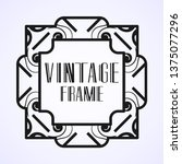 vintage ornamental modern art...   Shutterstock .eps vector #1375077296