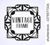 vintage ornamental modern art...   Shutterstock .eps vector #1375077326