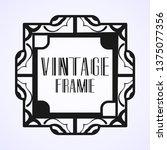 vintage ornamental modern art...   Shutterstock .eps vector #1375077356