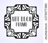 modern art deco frame. vintage...   Shutterstock .eps vector #1375077380