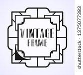 vintage ornamental modern art...   Shutterstock .eps vector #1375077383