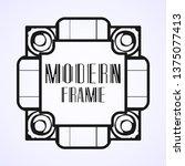 modern art deco frame. vintage...   Shutterstock .eps vector #1375077413