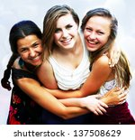 students girls having fun | Shutterstock . vector #137508629