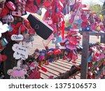 love padlock at n seoul tower... | Shutterstock . vector #1375106573