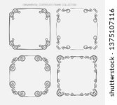 decorative vintage borders and...   Shutterstock .eps vector #1375107116