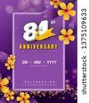 84 years anniversary logo... | Shutterstock .eps vector #1375109633