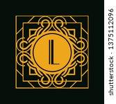 modern art deco luxury classic...   Shutterstock .eps vector #1375112096