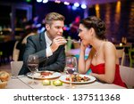 affectionate couple in... | Shutterstock . vector #137511368