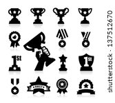 trophy and awards icons | Shutterstock .eps vector #137512670