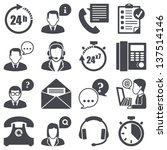 icons set  support | Shutterstock .eps vector #137514146