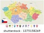 czech republic administrative... | Shutterstock .eps vector #1375158269