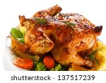 Roasted Chicken And Vegetables...