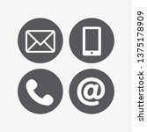 contact icon vector | Shutterstock .eps vector #1375178909