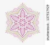 beautiful stylized flower.... | Shutterstock .eps vector #137517929