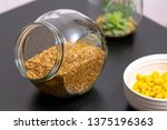 healthy food buckwheat porridge ... | Shutterstock . vector #1375196363