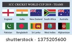 icc cricket world cup 2019  ... | Shutterstock .eps vector #1375205600
