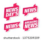 news days headline word set.... | Shutterstock .eps vector #1375209209