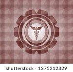 caduceus medical icon inside... | Shutterstock .eps vector #1375212329