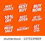 sale offers set. best choice... | Shutterstock .eps vector #1375239809