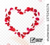 3d realistic vector heart... | Shutterstock .eps vector #1375242176