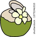 coconut on a white background | Shutterstock .eps vector #1375246310