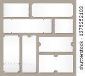 blank ticket template. festival ... | Shutterstock . vector #1375252103