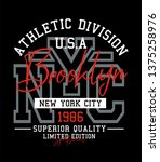 athletic nyc brooklyn...   Shutterstock .eps vector #1375258976