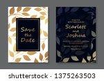 floral wedding invitation... | Shutterstock .eps vector #1375263503