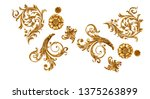 separate baroque elements for... | Shutterstock . vector #1375263899