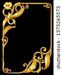 antique  baroque paper template | Shutterstock .eps vector #1375265573