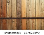 Wood Wall With Rusty Metal And...