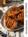 homemade barbecue pork chops... | Shutterstock . vector #1375273949