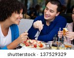 young affectionate couple... | Shutterstock . vector #137529329