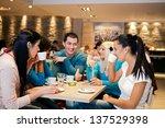 five student friends... | Shutterstock . vector #137529398
