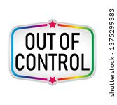 out of control sticker icon... | Shutterstock .eps vector #1375299383