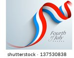 american independence day... | Shutterstock .eps vector #137530838
