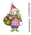 Rat Dressed As Santa Claus With ...