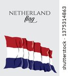 netherland flag. flag of the... | Shutterstock .eps vector #1375314863